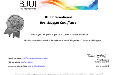 BJUI Awards: Best Blogger