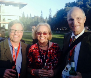 Dr. Brian Stork, Marie Ennis-O'Connor and Dr. Joe Salisz at Medicine X Stanford