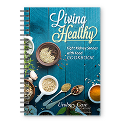 Living Healthy cookbook for patients with kidney stones.