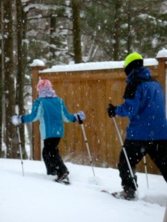 Enjoying the Michigan winter with my daughter.