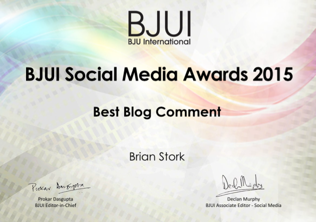 BJUI Awards: Best Blog Comment