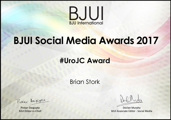 BJUI Awards: #UroJC Award